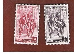 ITALIA REPUBBLICA - UN. 880.881 -   1960  ANNO DEL RIFUGIATO (SERIE COMPLETA DI 2)  -  NUOVI ** (MINT) - 1946-60: Nuovi