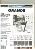 LEUCHTTURM - Feuilles GRANDE 1 C - 1 POCHE Fond Transparent - Albums & Reliures