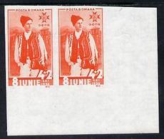 Rumania 1936 Accession Anniv 4L + 2L Vermilion Imperf Pair Unmounted Mint, SG 1334var (Mi 513v) - Non Classés