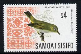 Samoa 1967 White Eye $4 From Bird Def Set Unmounted Mint, SG 289b - Samoa