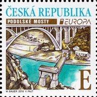 Czech Republic - 2018 - Europa CEPT - Bridges - Podoli Bridge - Mint Stamp - Neufs