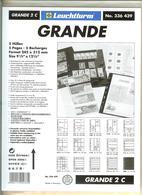 LEUCHTTURM - Feuilles GRANDE 2 C - 2 POCHES Fond Transparent - Albums & Reliures