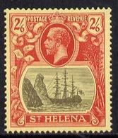 St Helena 1922-37 KG5 Badge MCA 2s6d Mounted Mint SG 94 - Sainte-Hélène