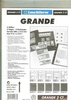 LEUCHTTURM - Feuilles GRANDE 2 CT - 4 POCHES Fond Transparent - Albums & Reliures