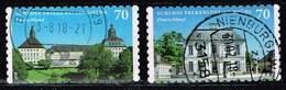 Bund 2018, Michel# 3388 - 3389 O Schloss Falkenlust/ Schloss Friedenstein Selbstklebend - [7] République Fédérale