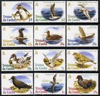 Tristan Da Cunha 2005  Birds Definitive Set Complete - 12 Values 1p To \A35 Unmounted Mint SG 833-44 - Tristan Da Cunha