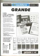 LEUCHTTURM - Feuilles GRANDE 2 VC - 2 BANDES VERTICALES Fond Transparent - Albums & Reliures