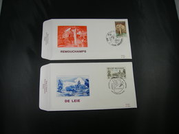 "BELG.1976 1833 & 1934 FDC's Remouchamps & St Martens Latem:  ""Toeristische Uitgifte- Emission Touristique"" - FDC"