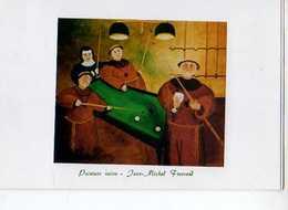 Jean Michel FROSSARD Peinture Naive, Moines Et Religieuse Jouant Au Billard, Carnet - Illustrateurs & Photographes