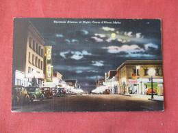 Night View Sherman Avenue    Idaho > Coeur D'Alene   Ref 3156 - Coeur D'Alene