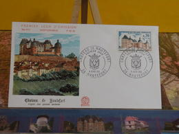 Château De Hautefort - 24 Hautefort - 5.4.1969 FDC 1er Jour N°674 - Coté 2,50€ - 1960-1969
