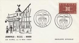 OBLIT. GF ILLUSTRÉE JEUNEVILLE ROUEN 5/64 - Commemorative Postmarks