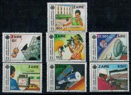 REPUBBLICA  DEMOCRETICA  DEL  CONGO  ZAIRE   1983 ANNEE MONDIALE  DES COMUNICATIONS    MNH**   SET X 7 - Zaire