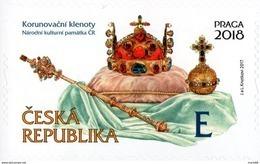 Czech Republic - 2017 - Crown Jewels - Praga 2018 World Stamp Exhibition - Mint Self-adhesive Booklet Stamp - Czech Republic