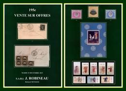 Catalogue 195e Vente Sur Offres J. Robineau 15 / 12 / 2015 - Catalogues De Maisons De Vente
