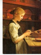Albert ANKER La Jeune Cuisiniere, Fillette Epluchant Des Pommes De Terre - Peintures & Tableaux