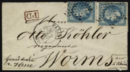 Lettre Le Newton, LSM Affranchie à 40c, N° 29B X 2ex, Càd Paris 60, 2 Janv 71, Pour Worms Grand Duché De Hesse, Sans Arr - Briefmarken