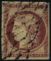 Oblitéré N° 5+6, 40c Orange + 1F Carmin, Réparés, Bel Aspect - Briefmarken