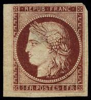 Neuf Sans Gomme N° 6, 1f Carmin, Bdf, Pelurage, Aspect Superbe, Signé Calves. - Francobolli