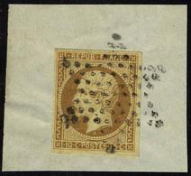 Oblitéré N° 9a, 10c Bistre Brun, Obl. étoile Sur Fragment, T.B. - Francobolli