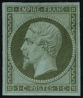 Neuf Avec Charnière N° 11, 1c Olive, T.B. Signé A.Brun - Francobolli