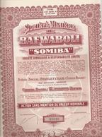 """Congo - Soc. Minière De Bafwaboli """" SOMIBA"""" - Afrika"""