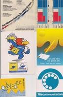 Autocollants  -  Lot De 5  -  Thème  LA POSTE Et TELECOMMUNICATIONS - Stickers