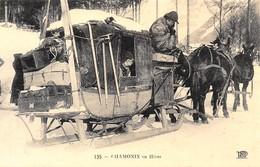 Chamonix En Hiver - Attelage De Chevaux - Diligence - Skis - Piolets - Cecodi N'430 - Chamonix-Mont-Blanc
