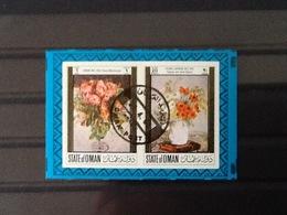Oman Block Pierre Laprade Poppies And White Daisies. - Oman
