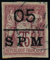 Oblitéré N° 10, 05 Sur 75c Carmin T.B. Signé Brun - Francobolli