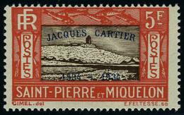Neuf Sans Charnière N° 159A/E, La Série Jacques Cartier, T.B. - Francobolli