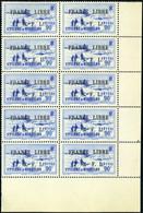 Neuf Sans Charnière N° 262, 90c Bleu, France Libre, Bloc De 10 Timbres, Cdf, Superbe - Francobolli