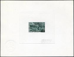 N° 385/86, Paysages, Les 2 Valeurs En épreuves D'artiste En Vert Foncé, Signées Monvoisin, T.B. - Francobolli
