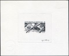 N° 470, 450ème Anniversaire De La Découverte Des îles, épreuve D'artiste En Noir, Signée, T.B. - Francobolli