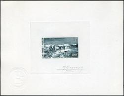 N° 45, 100f Traînage Du Bois à Miquelon, épreuve D'artiste En Vert Foncé, Signée Monvoisin, T.B. - Francobolli