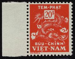 Neuf Sans Charnière N° 11, 20pi Rouge Unicolore, Bdf, T.B. - Francobolli