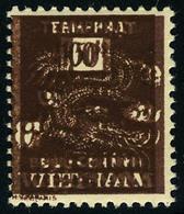 Neuf Sans Charnière N° 13, Impression Superposée Du 50 Et 100p, Unicolore Brun , T.B. - Francobolli