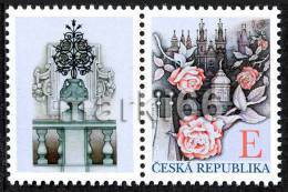 Czech Republic - 2011 - Personal Stamps - Roses Over Prague - Mint Stamp With Personalized Coupon - Neufs