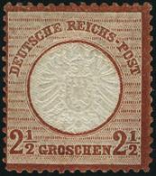 Neuf Avec Charnière N°18. 2 1/2G Brun Rouge. Cl. T.B. - Francobolli