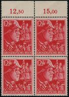 Neuf Sans Charnière N° 825/6, La Paire En L'honneur Des SS Et SA, Blocs De 4, Bdf, T.B. - Francobolli