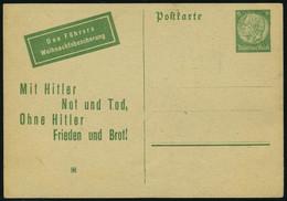 Lettre Propagande Entier à 6pf Vert Distribué Par L'aviation Russe, Michel 19V, T.B.  Rare - Francobolli