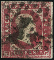 Oblitéré N° 3. 40c Rose. T.B. Signé Calves - Cote Sassone - Francobolli