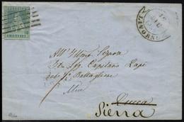 Lettre N° 5, 2cr Bleu Sur L De Livourne, Pour Siena Dec 1855, T.B. - Francobolli