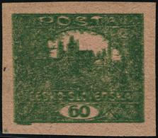 Neuf Sans Gomme N° 183. 60h Vert-jaune, Sans Surcharge, Non Dentelé. T.B. - Francobolli