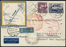 Lettre Zeppelin. 9. SAF 1932. C.P. Illustrée Au Recto. CàD Praha 18.X.32. CàD De Transit De Berlin (23.10.32) Et Berlin- - Francobolli