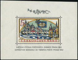 Neuf Sans Charnière N° 21+21a. Le Bloc Praga 1962. 1 Ex Dentelé. T.B. - Francobolli