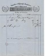 1864- Paris Rue De Richelieu - AIGUILLES Et EPINGLES ANGLAISES - KIRBY, BEARD & Cie - Etablis à Londres En 1756 - Historische Dokumente