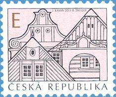 "Czech Republic - 2011 - Traditional Architecture - ""E"" Value - Mint Definitive Stamp - Czech Republic"