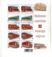 Postvoertuigen  Vroeger En Nu , Véhicules Postaux à Travers Le Temps  2010 - Postzegelboekjes 1953-....