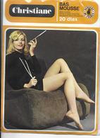 PAIRE De Bas CHRISTIANE Bas Mousse Sans Couture 20  DTEX 139 41 (Bergére De France)  Gris T 2   Avec Emballage D'origne - Tights & Stockings